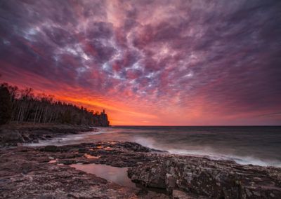 Sunrise on Split Rock Lake Superior