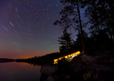 Star Trail In Quetico Provincial Park