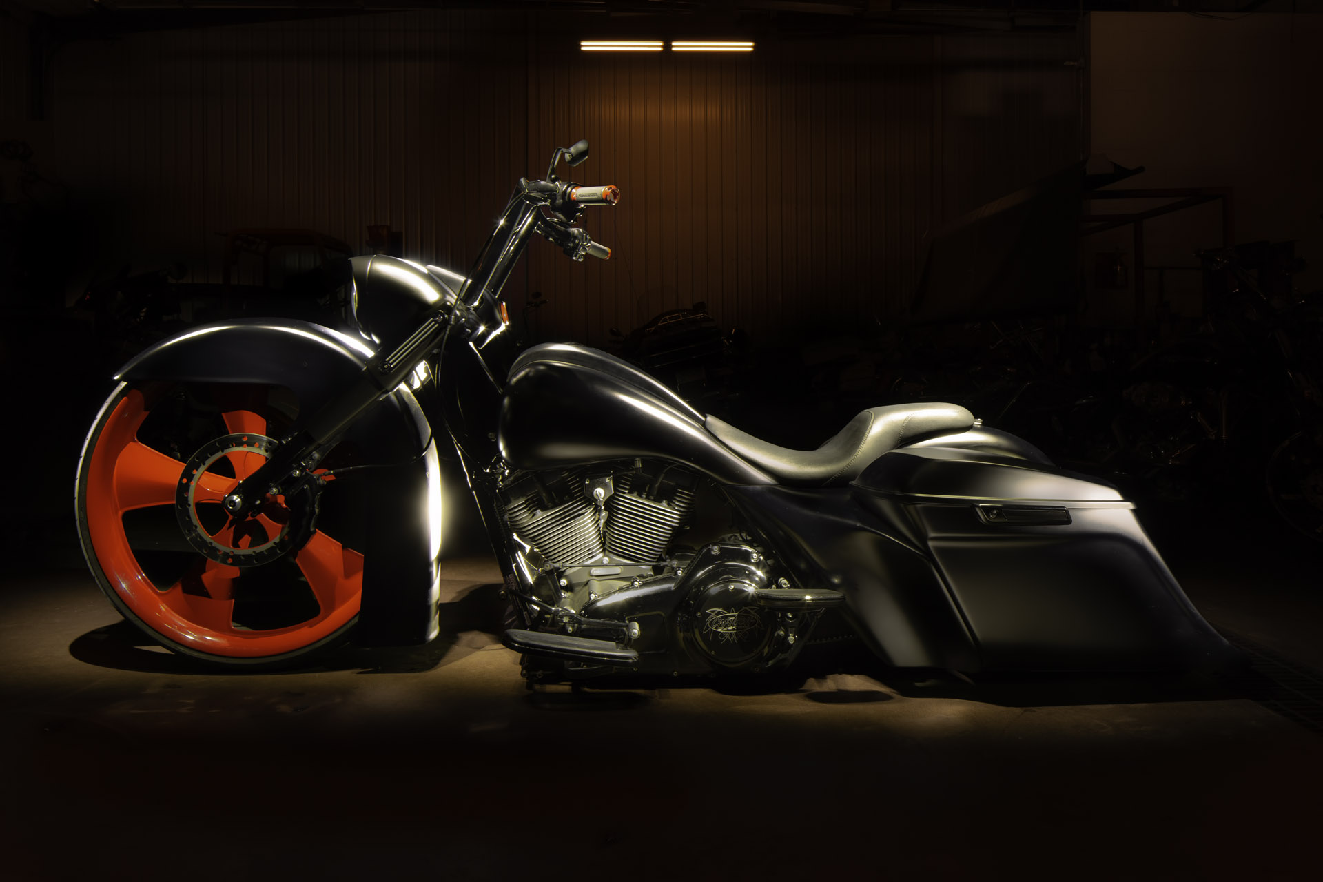 Light Painting, Motorcycle, Fine Art Photography